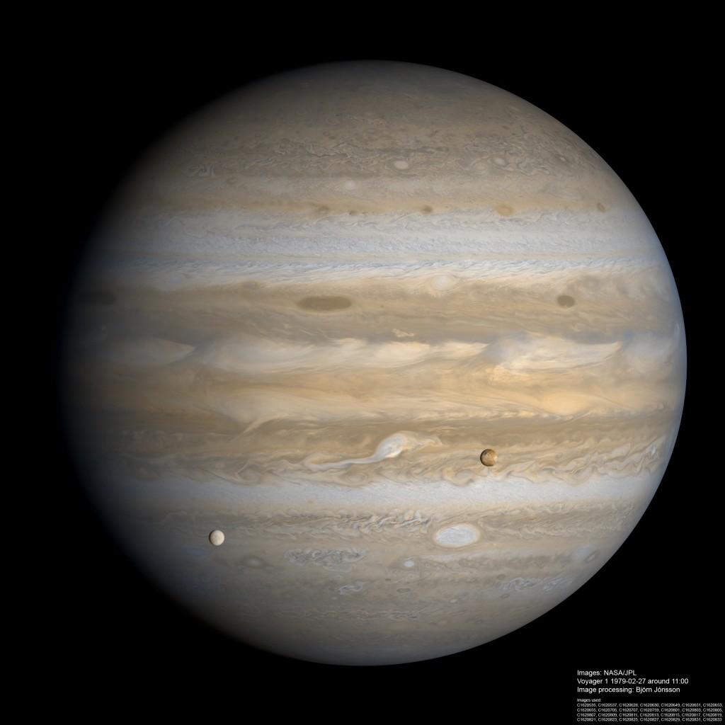 Jupiter avec transit de satellite.