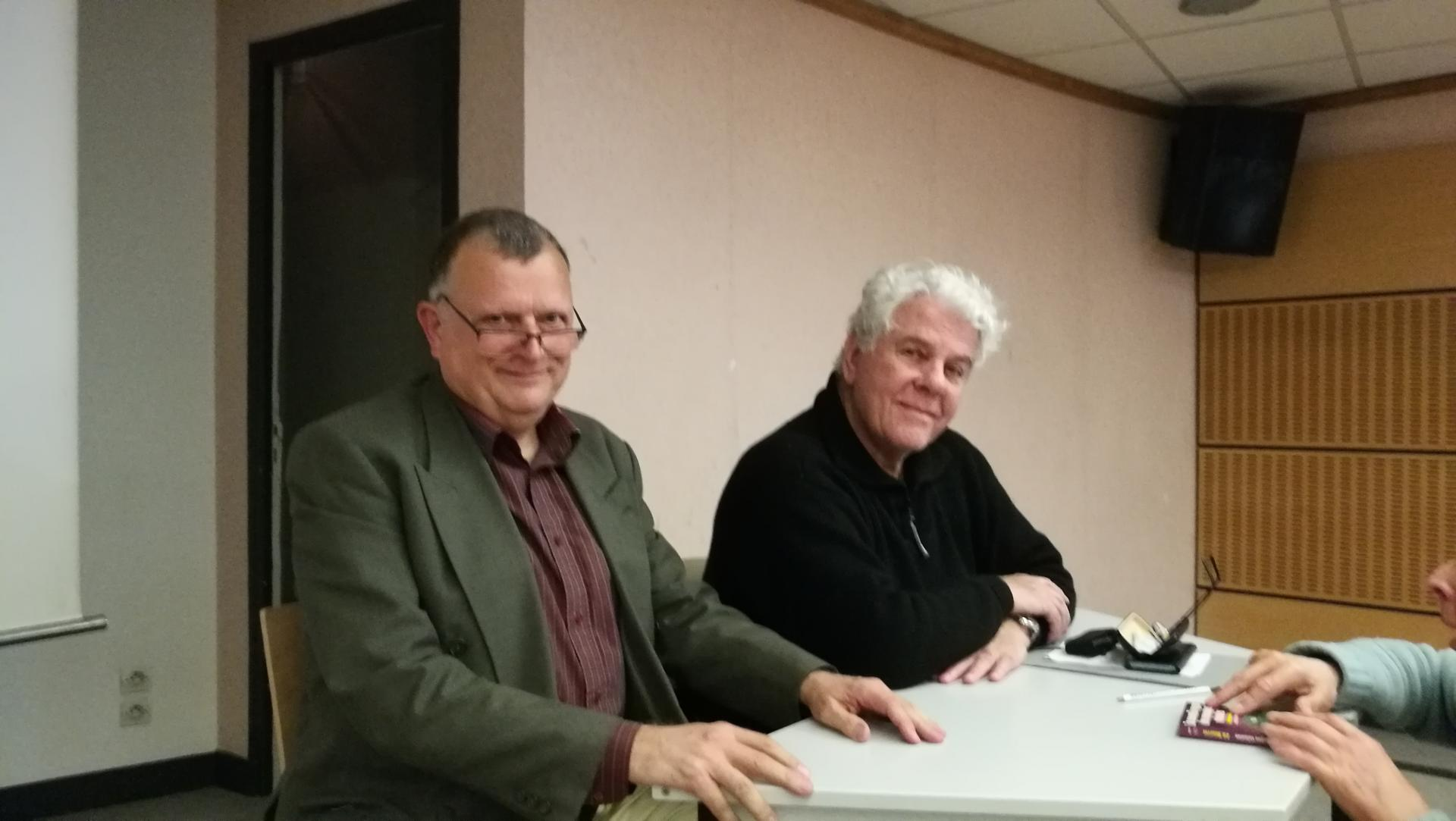 De G à D Patrice Galacteros & Jean-Claude Bourret