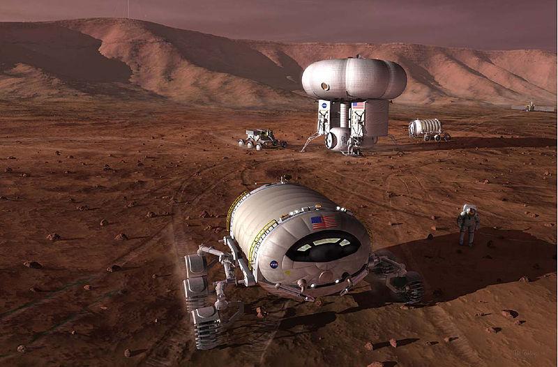 Mission martienne vue par la Nasa