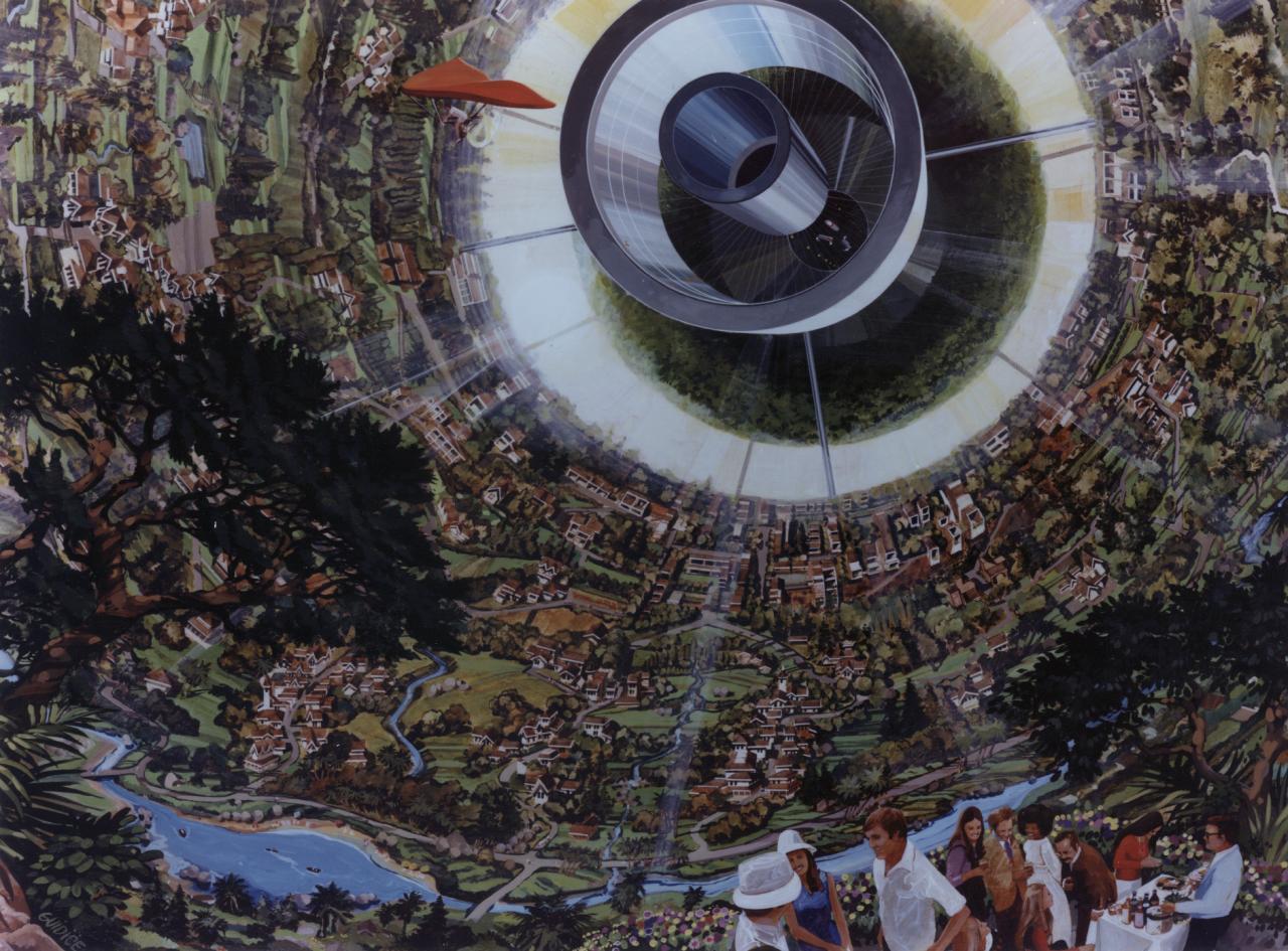 Vue d'artiste d'une sphère de Bernal