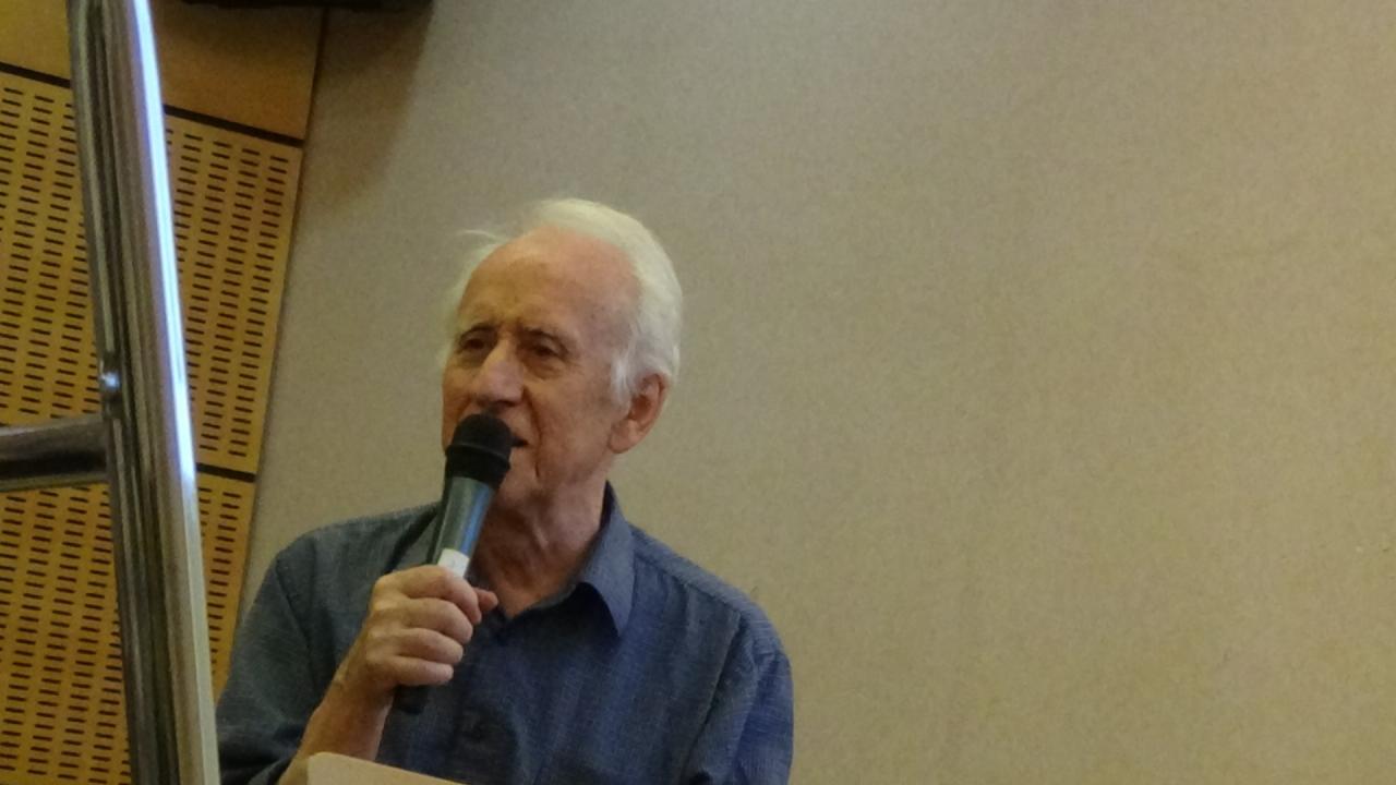 Gildas Bourdais pendant son exposé