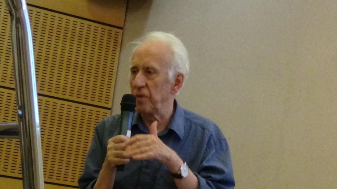 Gildas Bourdais pendant son exposé (1)