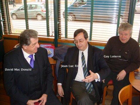 Mac Donald / Rivera / Loterre réunis avant la soirée.