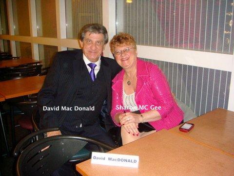 David Mac Donald & son amie Sharon Mc Gee