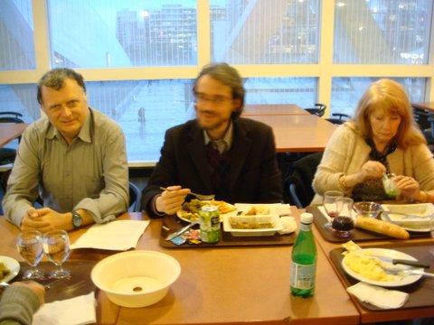 De gauche à droite Patrice , Niko , Mme Sidoun