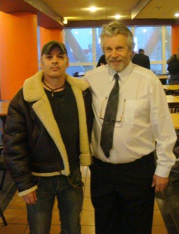 Guy Loterre pose avec Egon Kragel