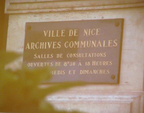 Recherches historiques à Nice.