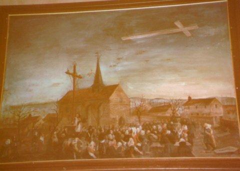 Une croix dans le ciel.