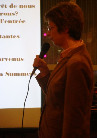 Brigitte Bézier au micro (2)