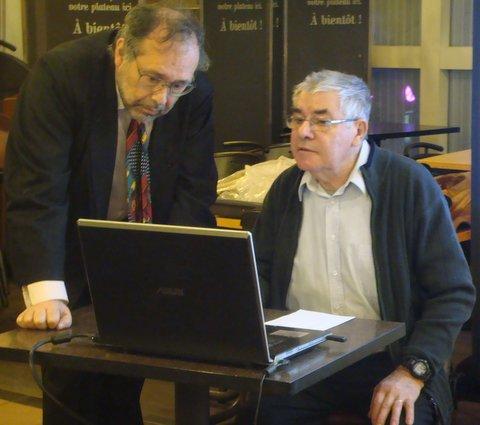 Préparation de la conf avec Gilles Lorant en support.