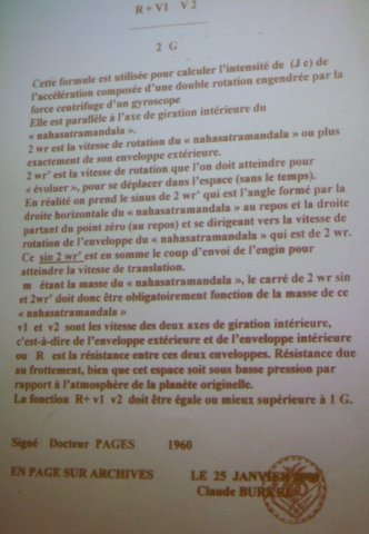 lettre du Dr pagès
