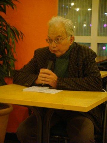 Jean Robin pendant son exposé.