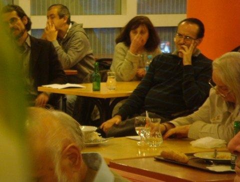 Au centre  Chantal et Stephane des repas ufologiques.