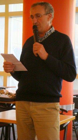Xavier Passot pendant sa présentation.