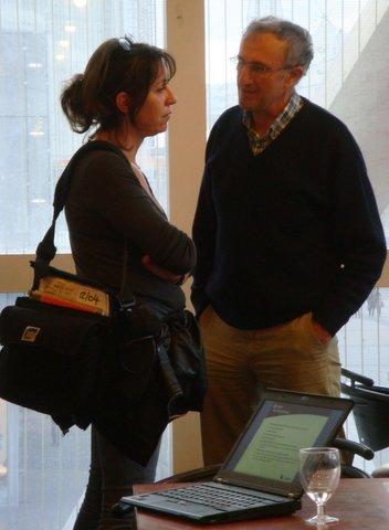 Sandrine Oudin journaliste à France Inter & Xavier Passot