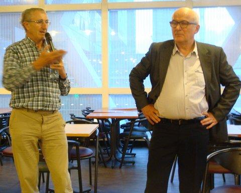 (Q & R ) De gauche à droite : Xavier Passot  & JP Aguttes