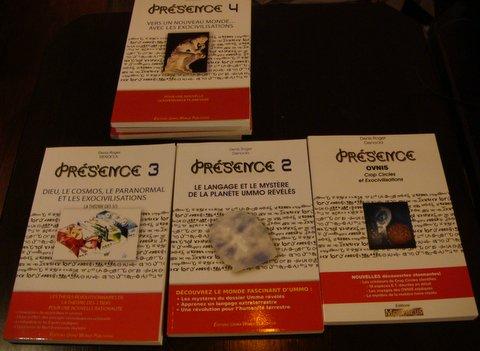 Les différents titres de la série PRESENCE.