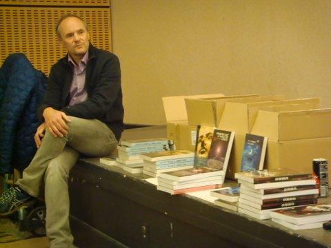 Cristel Seval pendant l'interview de Didier