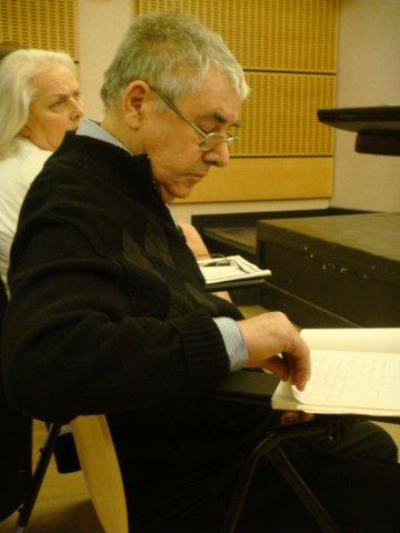Claude Burkel avant son exposé
