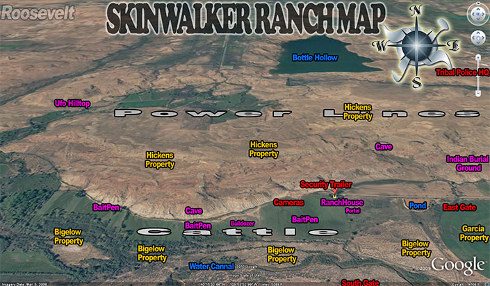 Carte du ranch Skinwalker