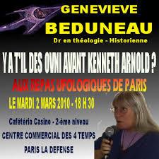 Geneviève : Aux repas Ufologiques de 2010