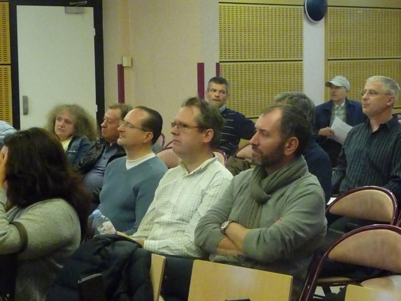 Plusieurs habitués dont Stephane Royer au centre et Thierry Rocher à droite