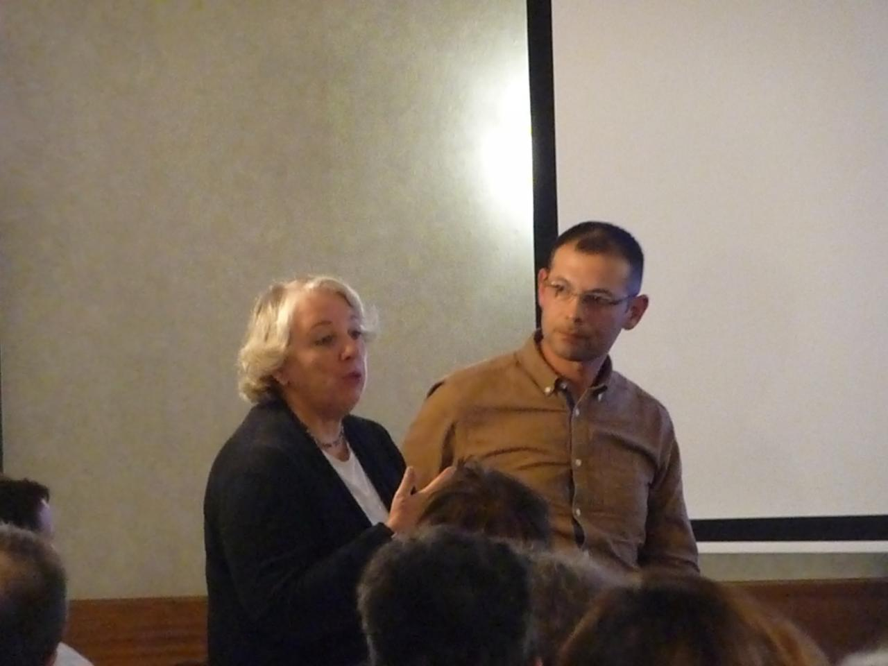 Myriam et Nicolas pendant les Q&R (3)