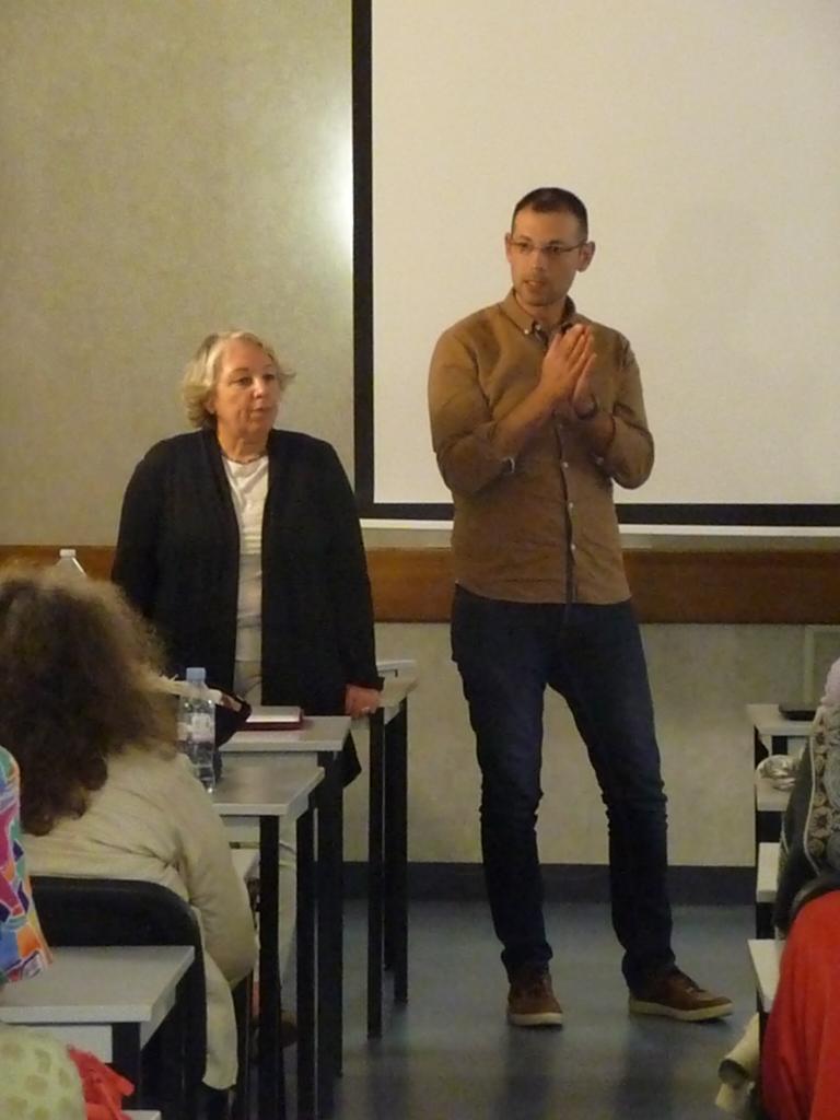 Myriam et Nicolas pendant les Q&R (2)