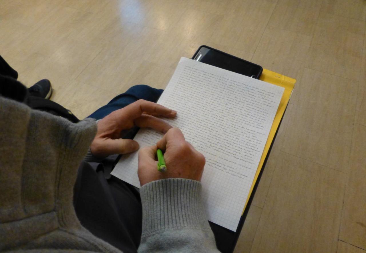 Le scribe en action !