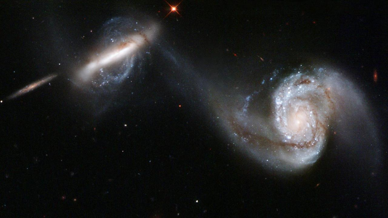 Galaxies en interaction.