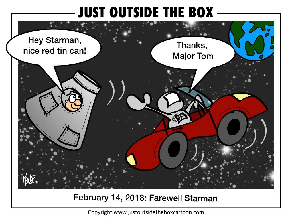 Un bonjour de Major Tom à Starman