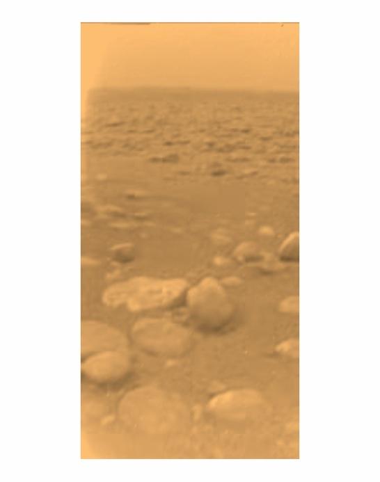 Le sol de Titan  (Sonde Huygens)